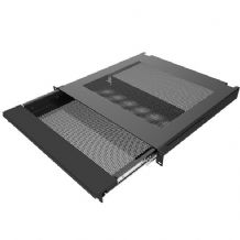 "19"" Rack Mount Vented Laptop Security Drawer"
